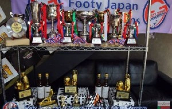 The Famous TML Trophies and 3 pairs of Football boots kindly donated by our sponsors Adidas.